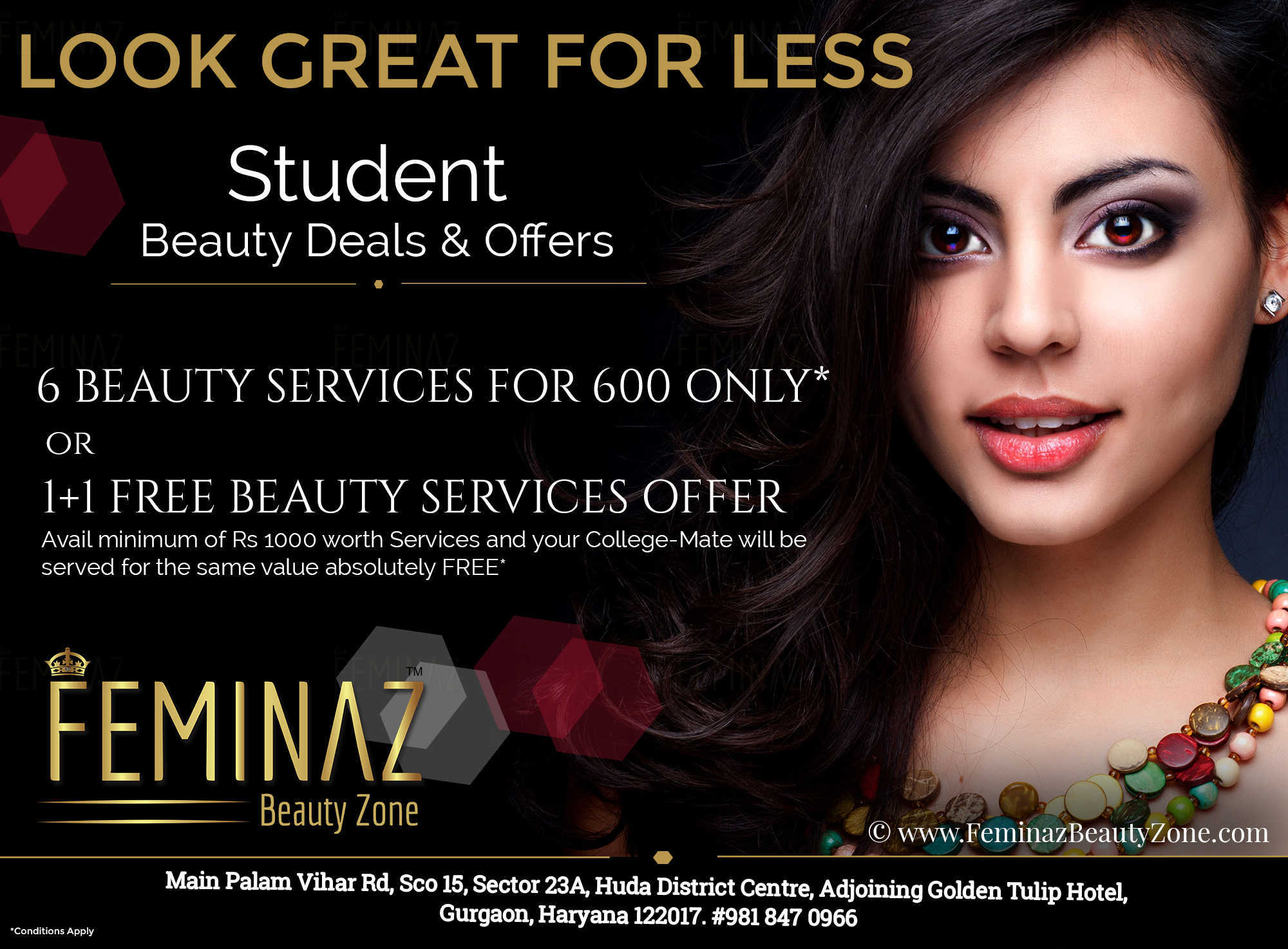 Beauty salon deals in gurgaon save 40 10 now for Beauty salon xmas offers